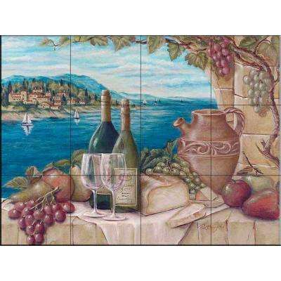 Bella Vista 17 in. x 12-3/4 in. Ceramic Mural Wall Tile