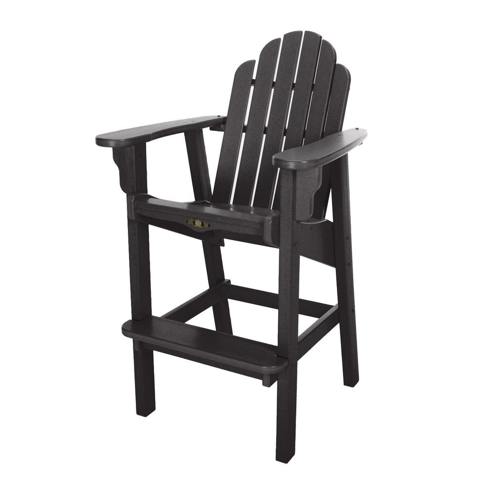 Miraculous Durawood Essentials Plastic Outdoor High Dining Chair In Black Lamtechconsult Wood Chair Design Ideas Lamtechconsultcom