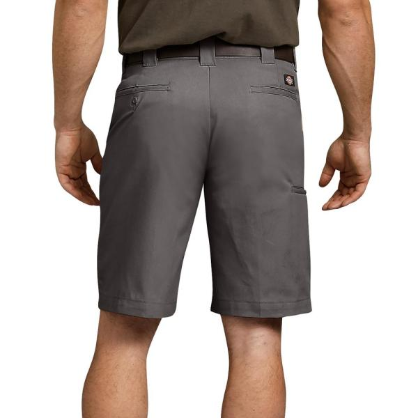 Dickies Men S Flex 11 Relaxed Fit Work Short Wr852vg 44 The Home Depot