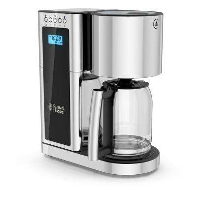 Glass Series 8-Cup Coffeemaker in Black and Stainless-Steel