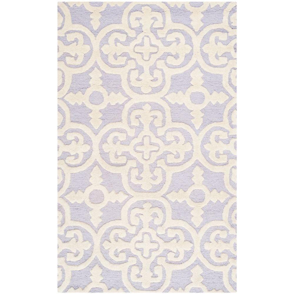 Cambridge Lavender/Ivory 4 ft. x 6 ft. Area Rug