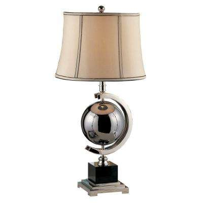 Blackened Chrome Sphere 29 in. Table Lamp