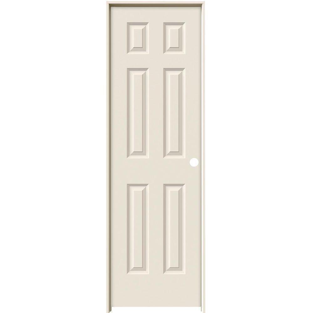 Smooth 6 Panel Solid Core Primed Molded Single Prehung Interior Door