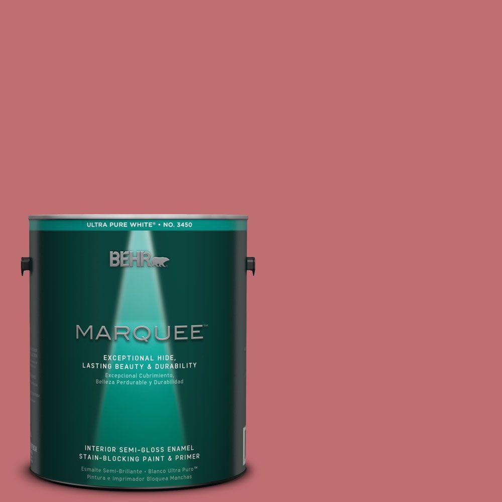 BEHR MARQUEE 1-gal. #HDC-SP14-8 Art House Pink Semi-Gloss Enamel ...