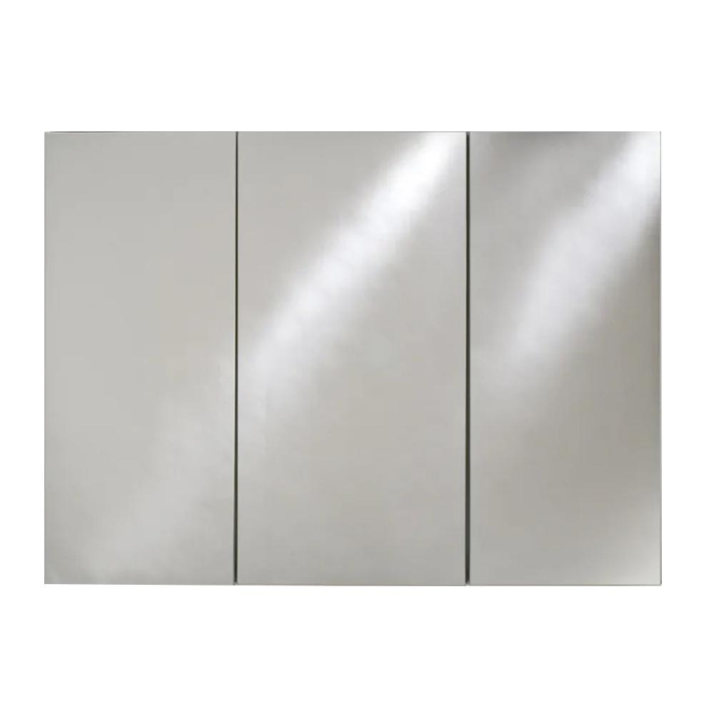 Afina Broadway 48 in. W x 30 in. H Recessed Triple Door Medicine Cabinet with Polished Edge