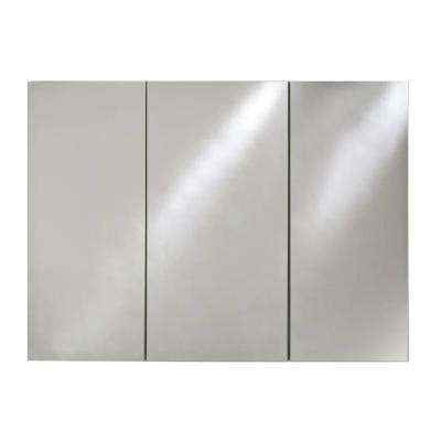 Broadway 48 in. W x 30 in. H Recessed Triple Door Medicine Cabinet with Polished Edge