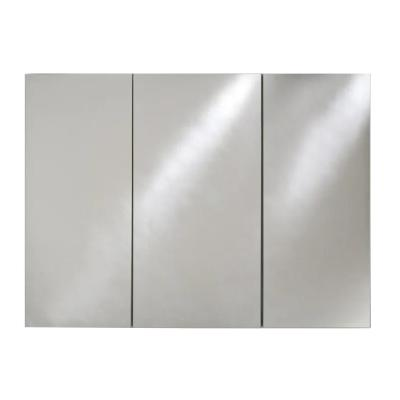 Broadway 36 in. x 30 in. Recessed Triple Door Medicine Cabinet with Polished Edge Mirrors