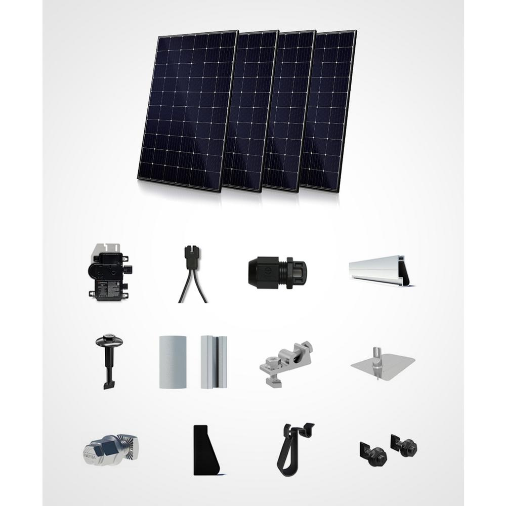1200-Watt On Grid Starter Kit-Mono Roof Mount System