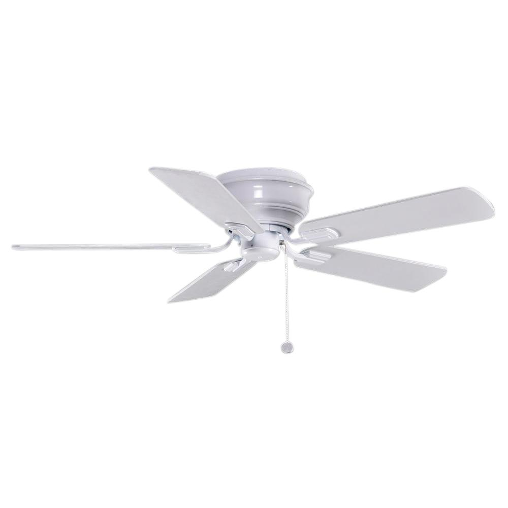 Hampton Bay Hawkins 44 in. Indoor White Ceiling Fan on