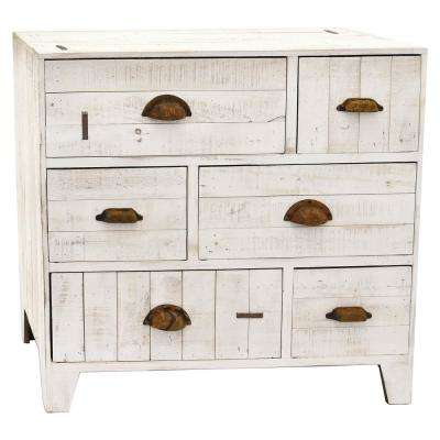29.5 in. x 14.5 in. White Cabinet with Drawers
