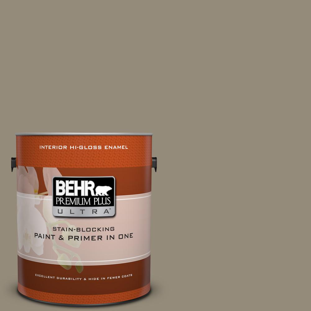 behr premium plus ultra 1 gal. #770d-5 carriage door hi-gloss enamel