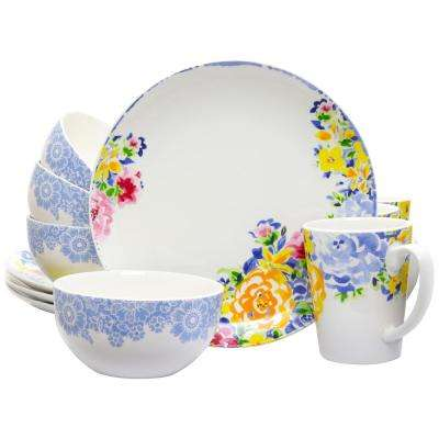 Ceramic Blutique 12-Piece Multi-Color Dinnerware Set