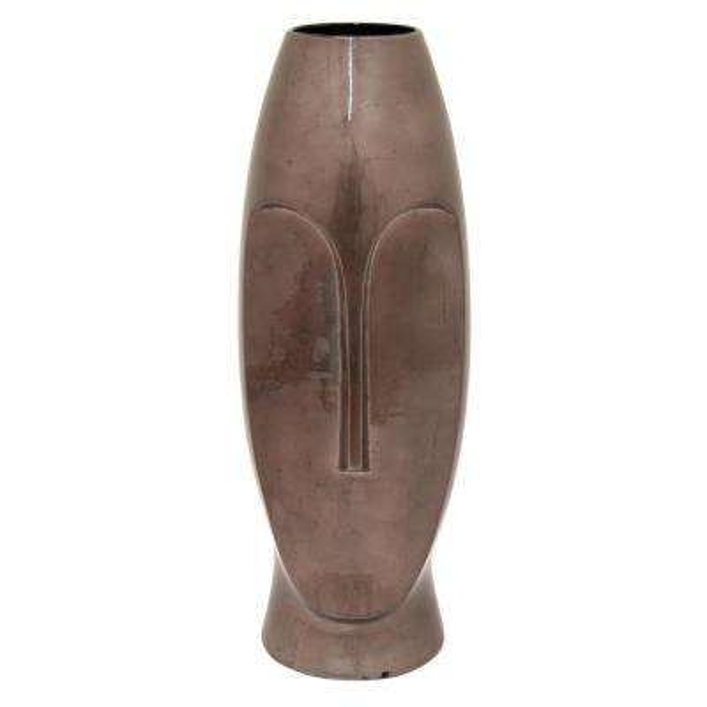 19.75 in. Metallic Brown Ceramic Vase