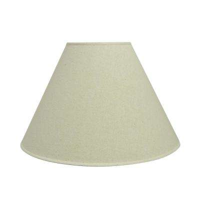 18 in. x 12.5 in. Off White Hardback Empire Lamp Shade