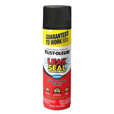 15 oz. LeakSeal Black Flexible Rubber Coating Spray Paint (6-Pack)