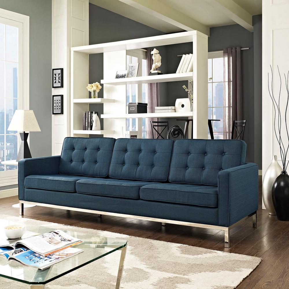 Modway Loft Azure Upholstered Fabric Sofa