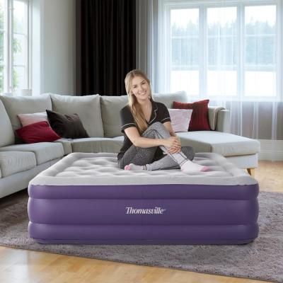 Sensation 15 Full Raised Adjustable Comfort Air Bed Mattress With Express Pump