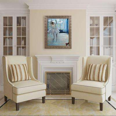 "20 in. x 16 in. ""Dancer in Front of a Window"" by Edgar Degas Framed Printed Canvas Wall Art"