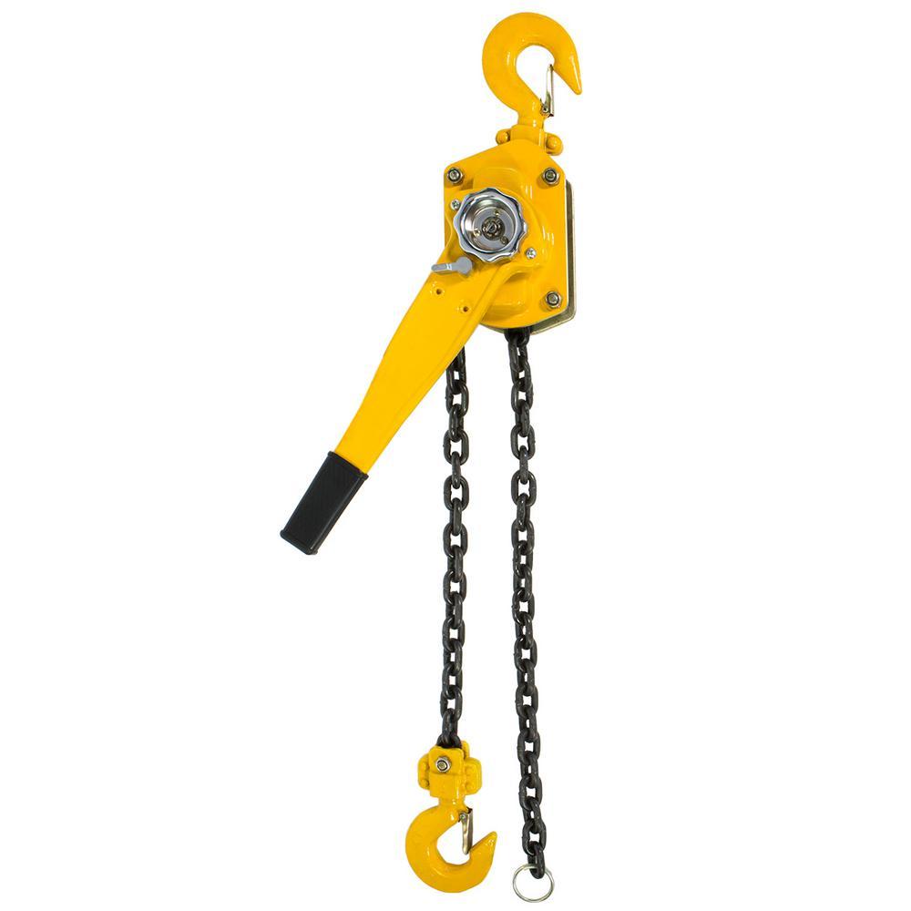 3-Ton Steel Block Chain Lever Hoist Puller Lifter 5 ft.