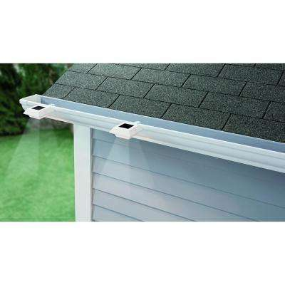 Solar Powered Integrated LED White Roof Gutter Light (4-Pack)