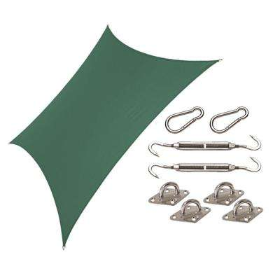Coolhaven 12 ft. x 12 ft. Heritage Green Square Shade Sail with Kit