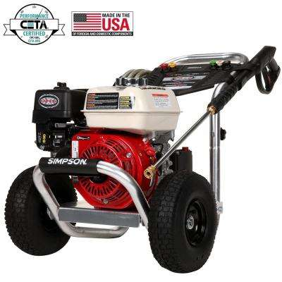Aluminum 3600 PSI at 2.5 GPM HONDA GX200 with AAA Triplex Pump Professional Gas Pressure Washer