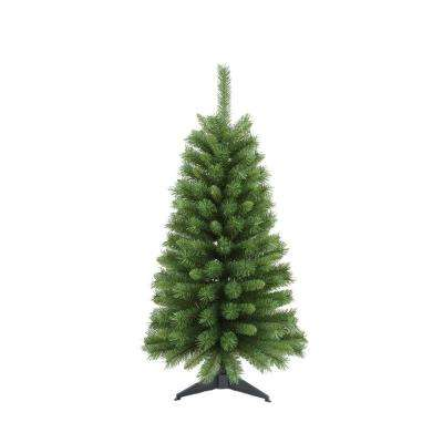 4 ft. Canadian Pine Artificial Christmas Tree with Base