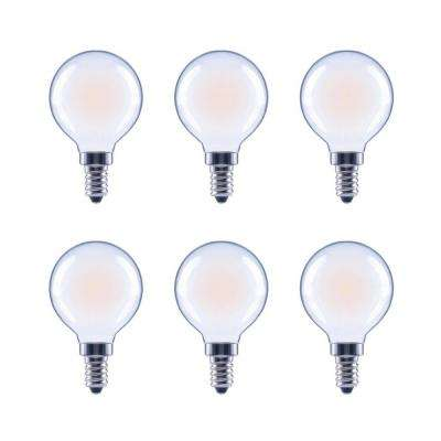 40-Watt Equivalent G16.5 Globe Dimmable Frosted Glass Filament Vintage LED Light Bulb in Soft White (6-Pack)