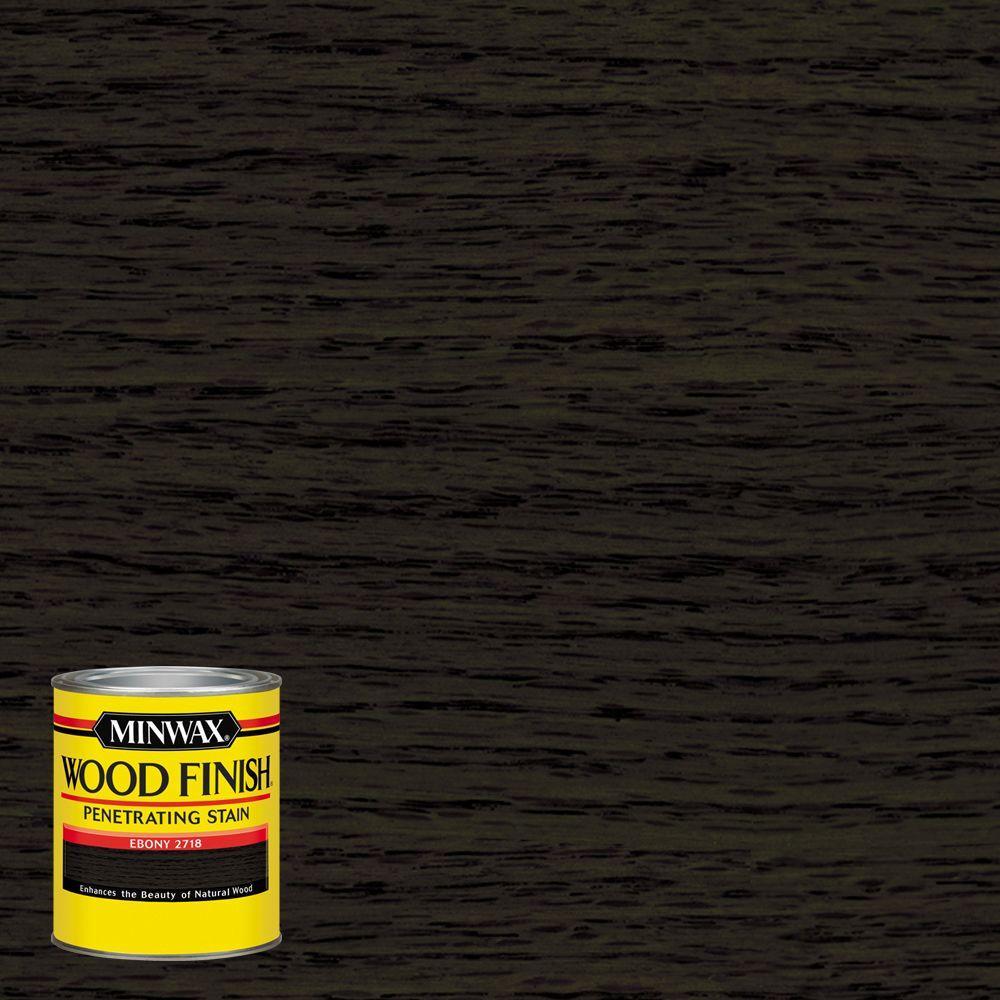 8 oz. Wood Finish Ebony Oil-Based Interior Stain (4-Pack)