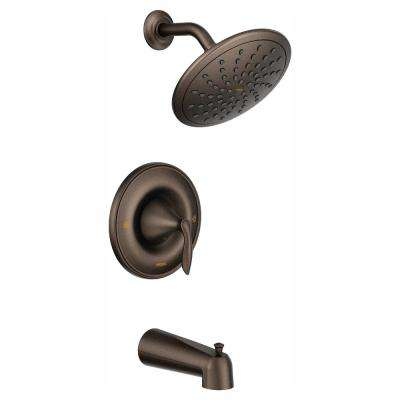 Eva Posi-Temp Rain Shower Single-Handle Tub and Shower Faucet Trim Kit in Oil Rubbed Bronze (Valve Not Included)