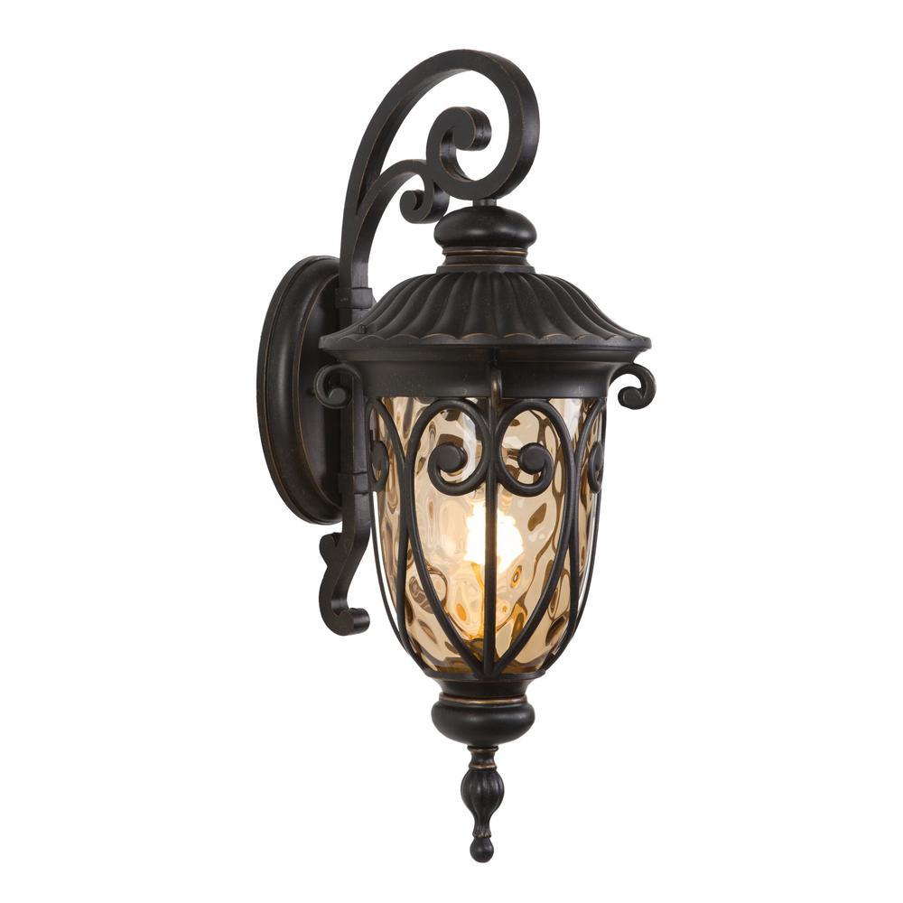 Viviana Collection 1-Light Oil Rubbed Bronze Outdoor Wall Lantern Sconce