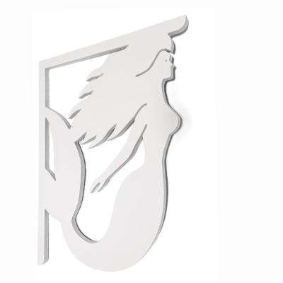 Decorative 16 in. Paintable PVC Mermaid Mailbox or Porch Bracket