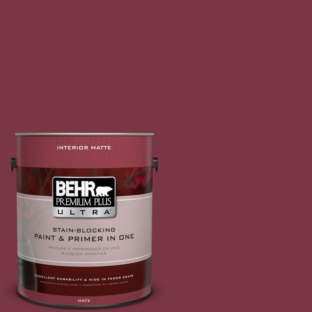 BEHR Premium Plus Ultra 1 gal. #S-H-110 Wine Tasting Flat/Matte Interior Paint, Reds/Pinks