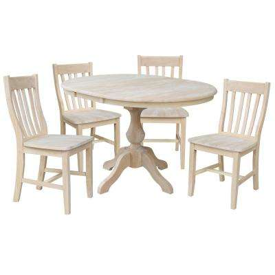 Sophia 5-Piece Ready to Finish Oval Dining Set with Cafe Chairs