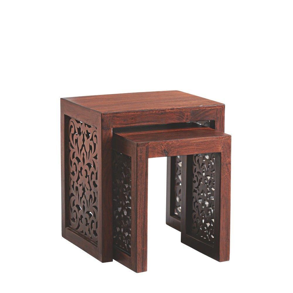 Maharaja Walnut 2-Piece Nesting End Table