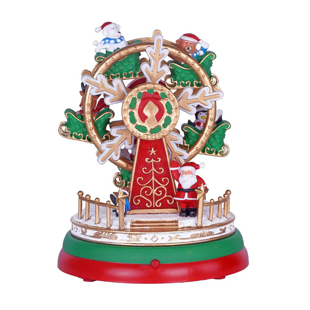 home accents holiday 7 in animated musical ferris wheel with led illumination - Christmas Ferris Wheel Decoration