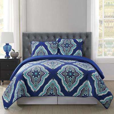 Harper 3-Piece Multiple Full and Queen Quilt with 2 Shams