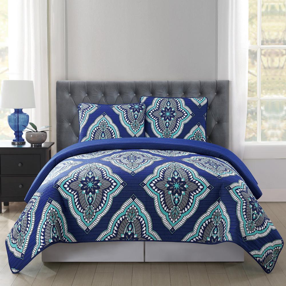 Truly Soft Harper Multi-Color Twin XL Quilt Set-QS1799TXL-2300 ... : twin extra long quilt - Adamdwight.com