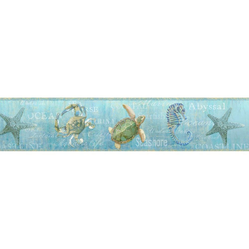 Chesapeake Coastal Newport Lagoon Wallpaper Border-DLR53532B - The ...