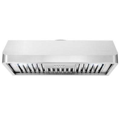 36 in. Ducted Under Cabinet Range Hood in Stainless Steel with Push Button Controls, LED Lighting and Permanent Filters