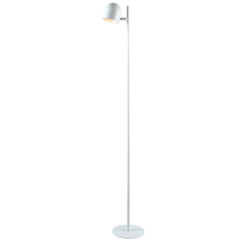 Kenroy Home Vidal 54 in. White Floor Lamp with White Metal Shade ...