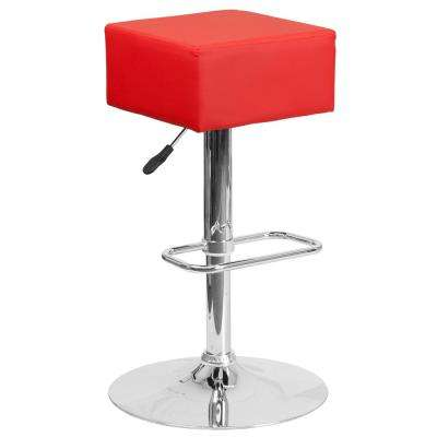 22.5 in. to 30.25 in. H Red Bar Stool