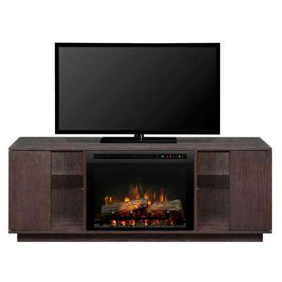 Flex Lex 64 in. Freestanding Electric Fireplace TV Stand Media Console in Smoke