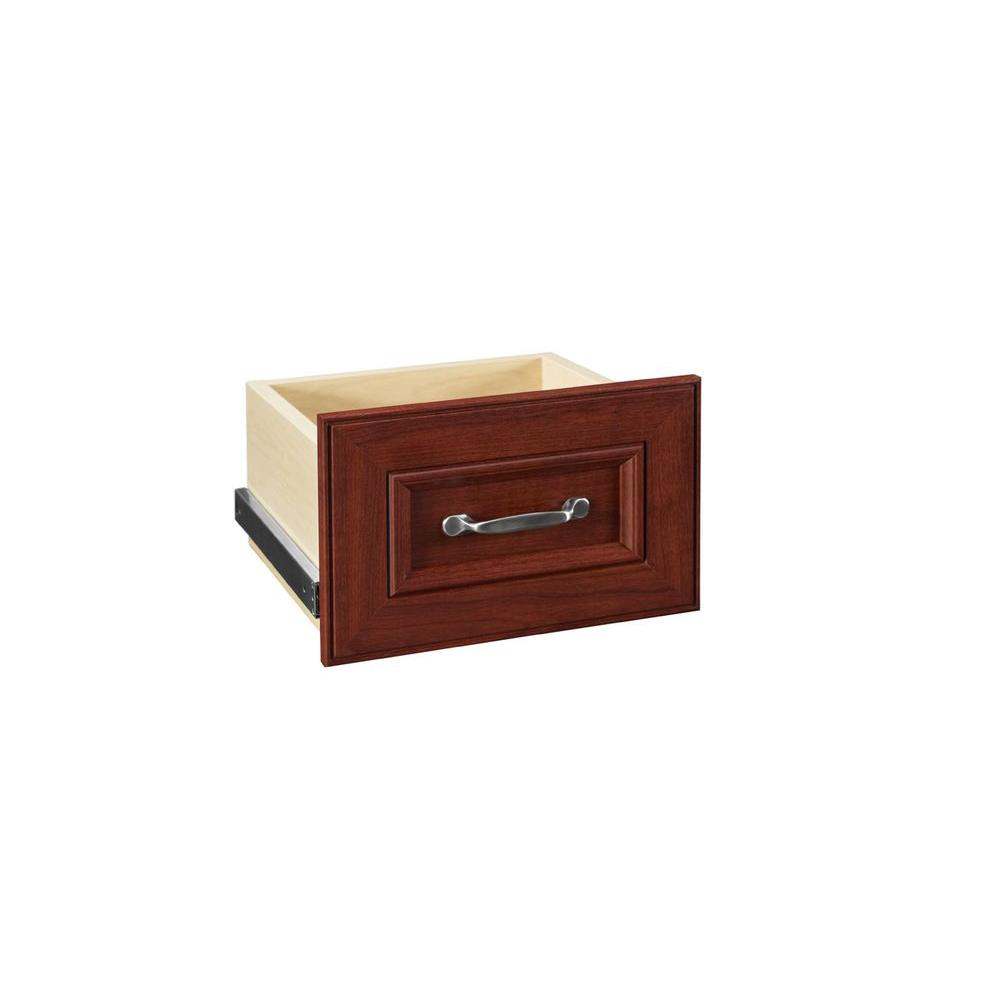 Closetmaid Impressions   In W X   In H Dark Cherry Narrow Drawer Kit For  In W Dark Cherry Standard Closet Kit  The Home Depot