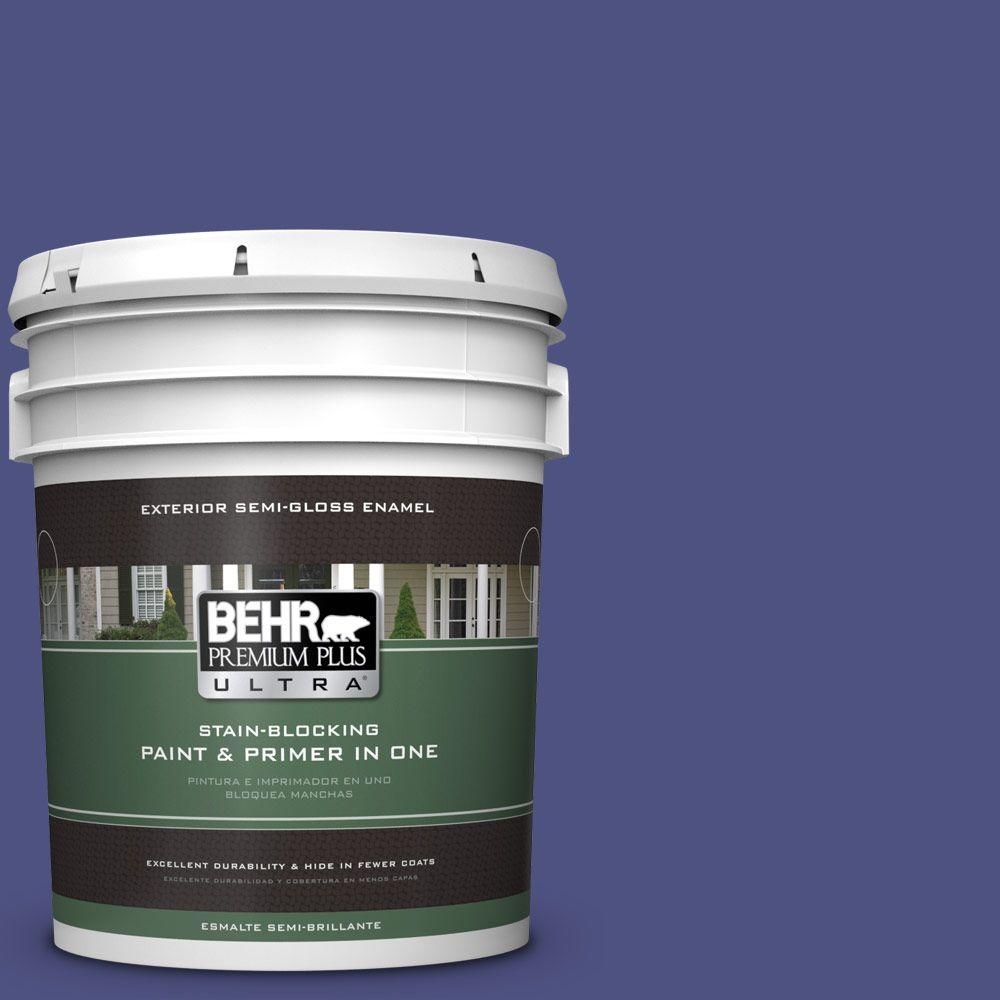 BEHR Premium Plus Ultra 5-gal. #PPU15-2 Mozart Semi-Gloss Enamel Exterior Paint