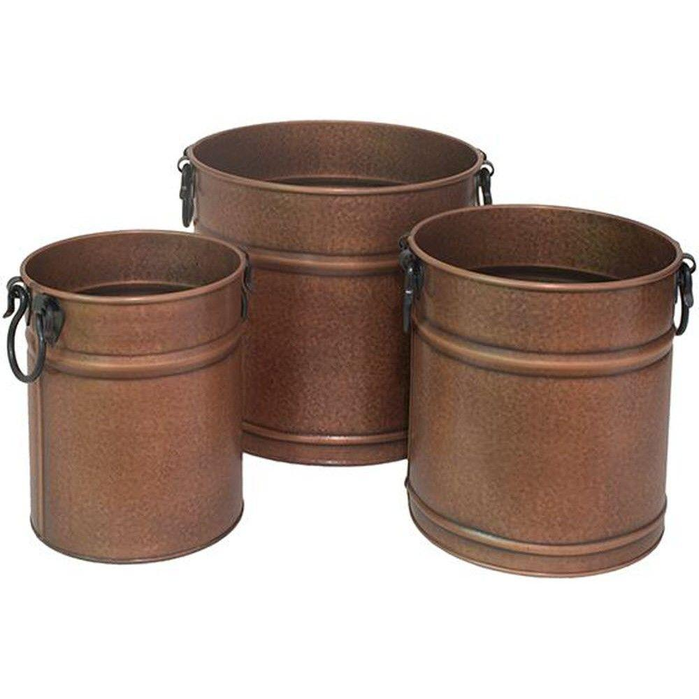 Home Decorators Collection Marin Copper Metal Planters (Set of 3)