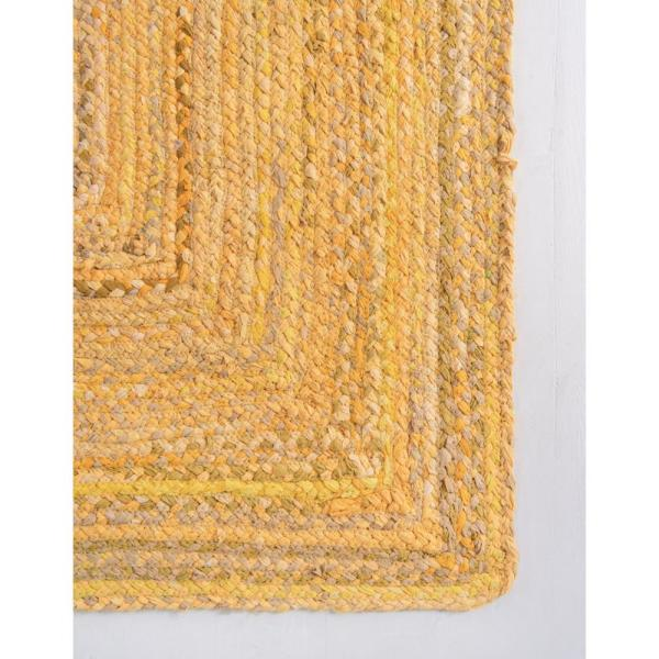 Unique Loom Braided Chindi Yellow 9 Ft