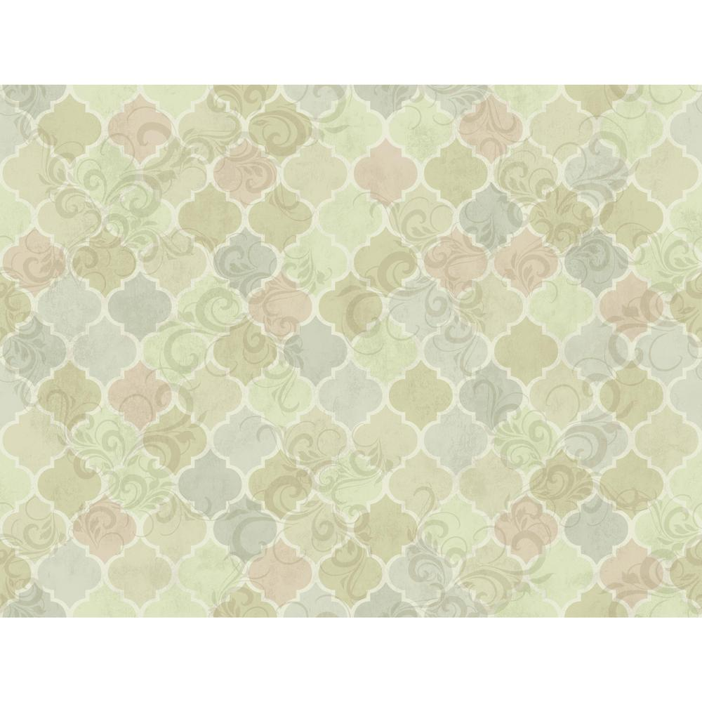 York Wallcoverings Charlotte Moroccan Tiles Wallpaper