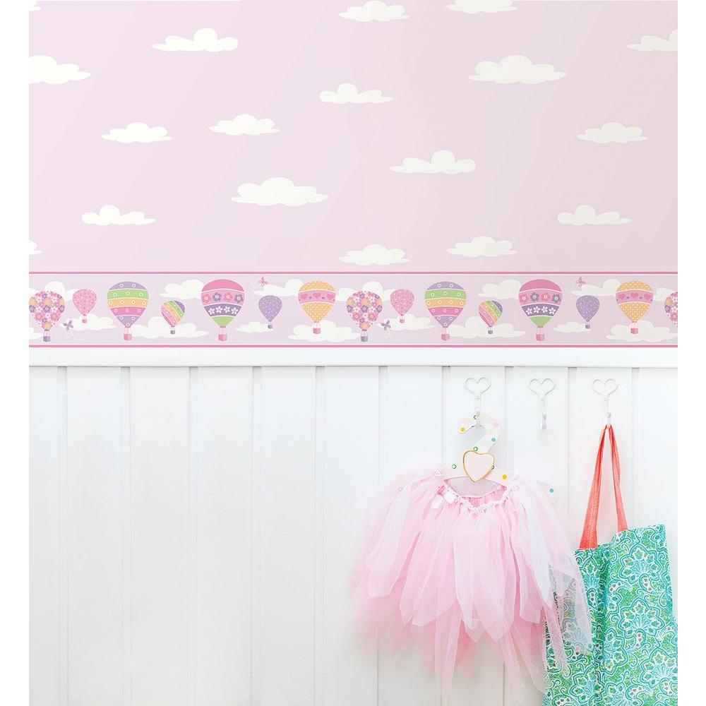 Balloons Lilac Wallpaper Border Sample