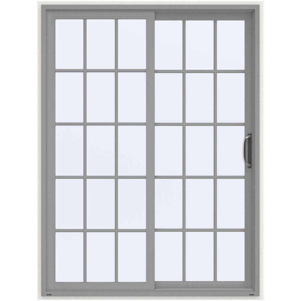 60 in x 80 in v 4500 arctic silver prehung right hand - 60 Patio Door
